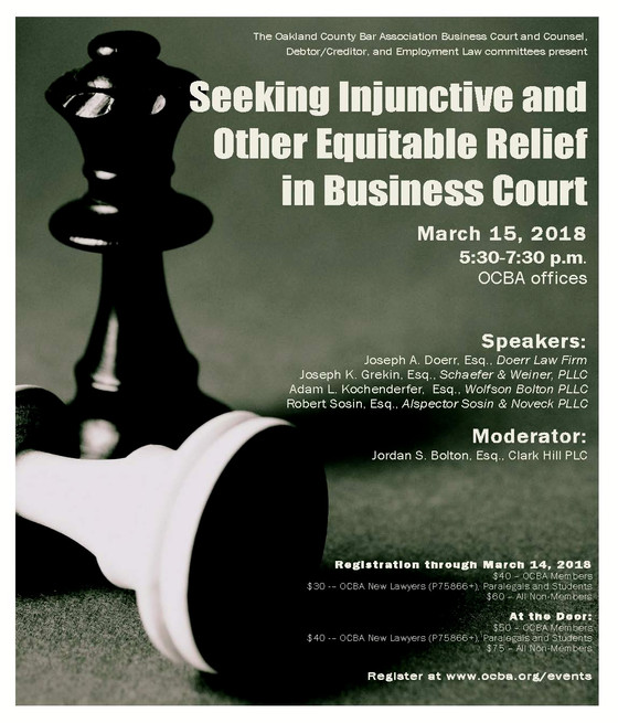 Seeking Injunctive and Other Equitable Relief in Business Court
