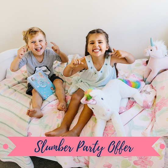 Slumber Party Offer for 5 Friendship Book & Sticker Sheet Sets