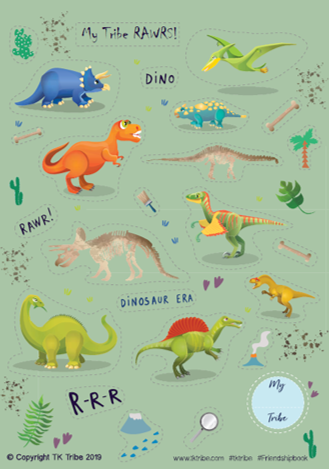 Sticker Sheet - Dinosaurs