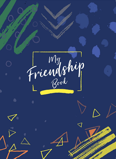 Friendship Book Cool Blue & Sticker Sheet