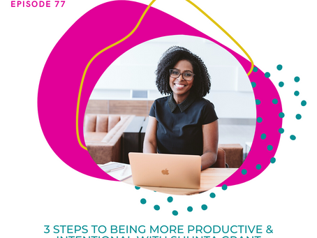 Ep. 77:  3 Steps to Being More Productive & Intentional with Shunta Grant