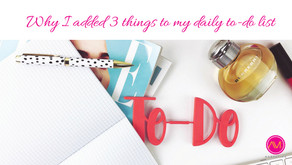 Why I added 3 things to my daily to-do list