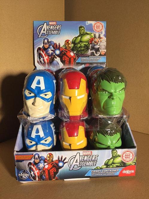 Avengers tête surprise avec bonbons 10g 3 pour 2€