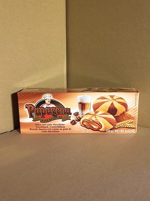 Biscuits fourrés à la crème au goût de latte macchiato 160g