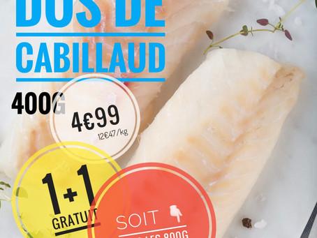 🚨 Ce vendredi  Dos de cabillaud 👉 4€99/ 800g soit: 6€23 le kg   www.marcheprixplus.com/info-1