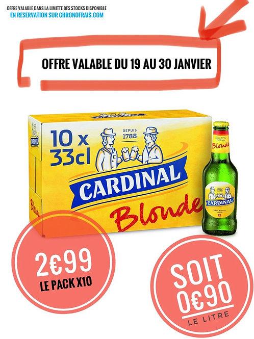 Biere blonde cardinale 2€99 le pack engagement 1€