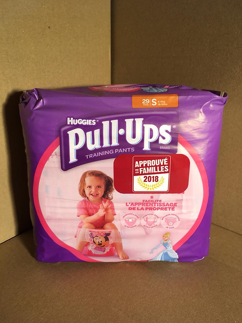 HUGGIES PULL UPS Taille S – 29 pièces Taille S, 08/15 KGS Pour Filles.