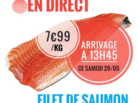 🚨Arrivage à 13h45 ce samedi 🐟 saumon 7,99€/kg   www.marcheprixplus.com