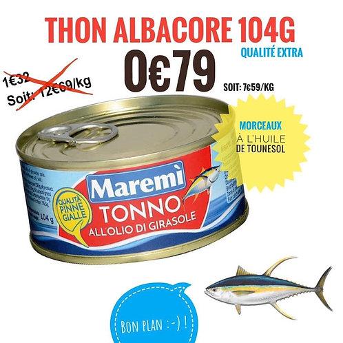 Thon entier albacore 104g 🌻 0€79. Eng 0,50€
