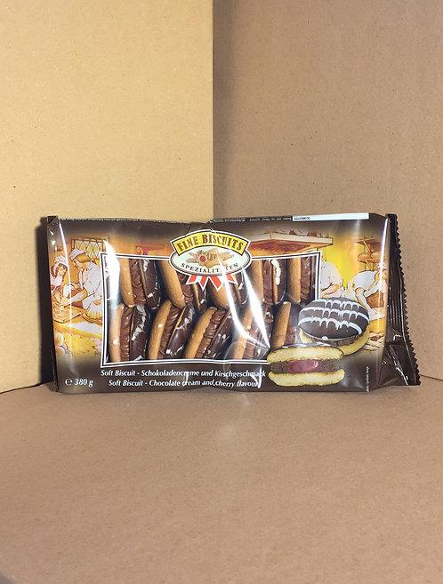 Biscuits aux chocolat fourré à la crème de cerise 380g