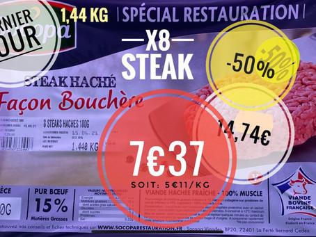 🚨 Ce mardi (uniquement) Steak haché façon bouchère 👉 7€37/kg soit: 5€11/kg  www.marcheprixplus.c
