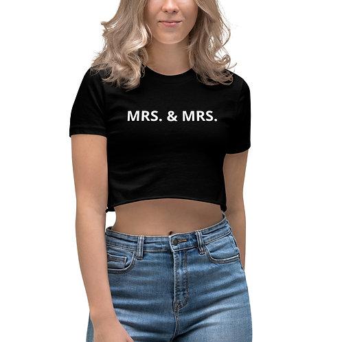 Mrs. & Mrs. Women's Crop Top