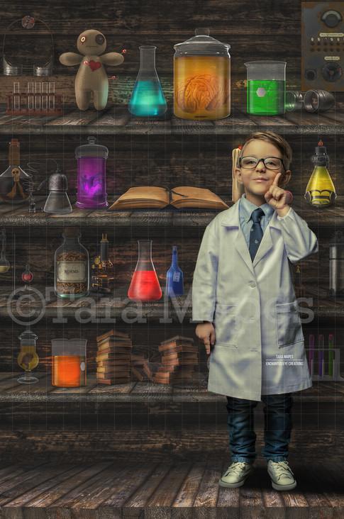 Science Lab Shelves
