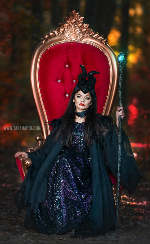 Maleficent throne woods social media