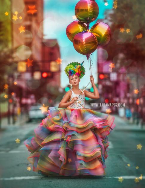 street balloons social media