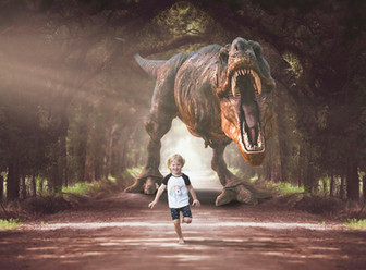 Dino forest tunnel
