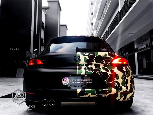 Volkswagen Scirocco Half Cut Bape Rear