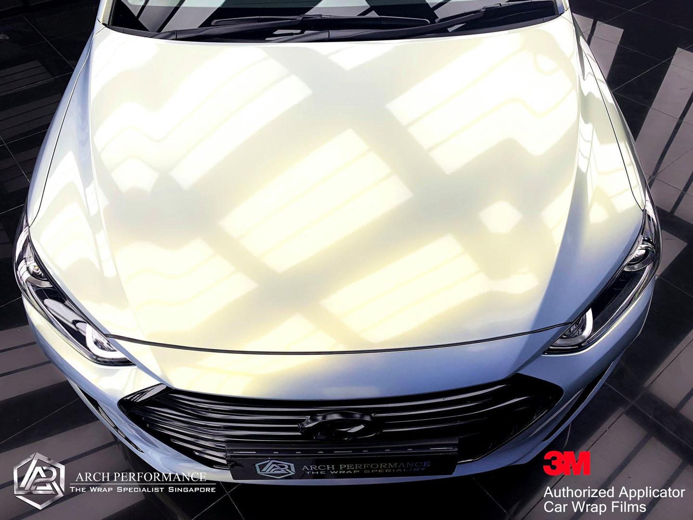 Hyundai Elantra Phantom Grey Gold Bonnet