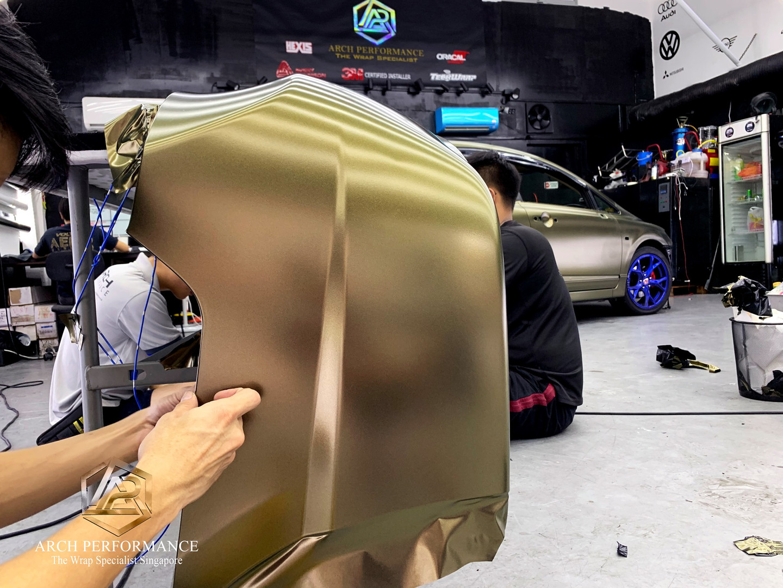 Civic FD Matte Metallic (Bond Gold) Bumper