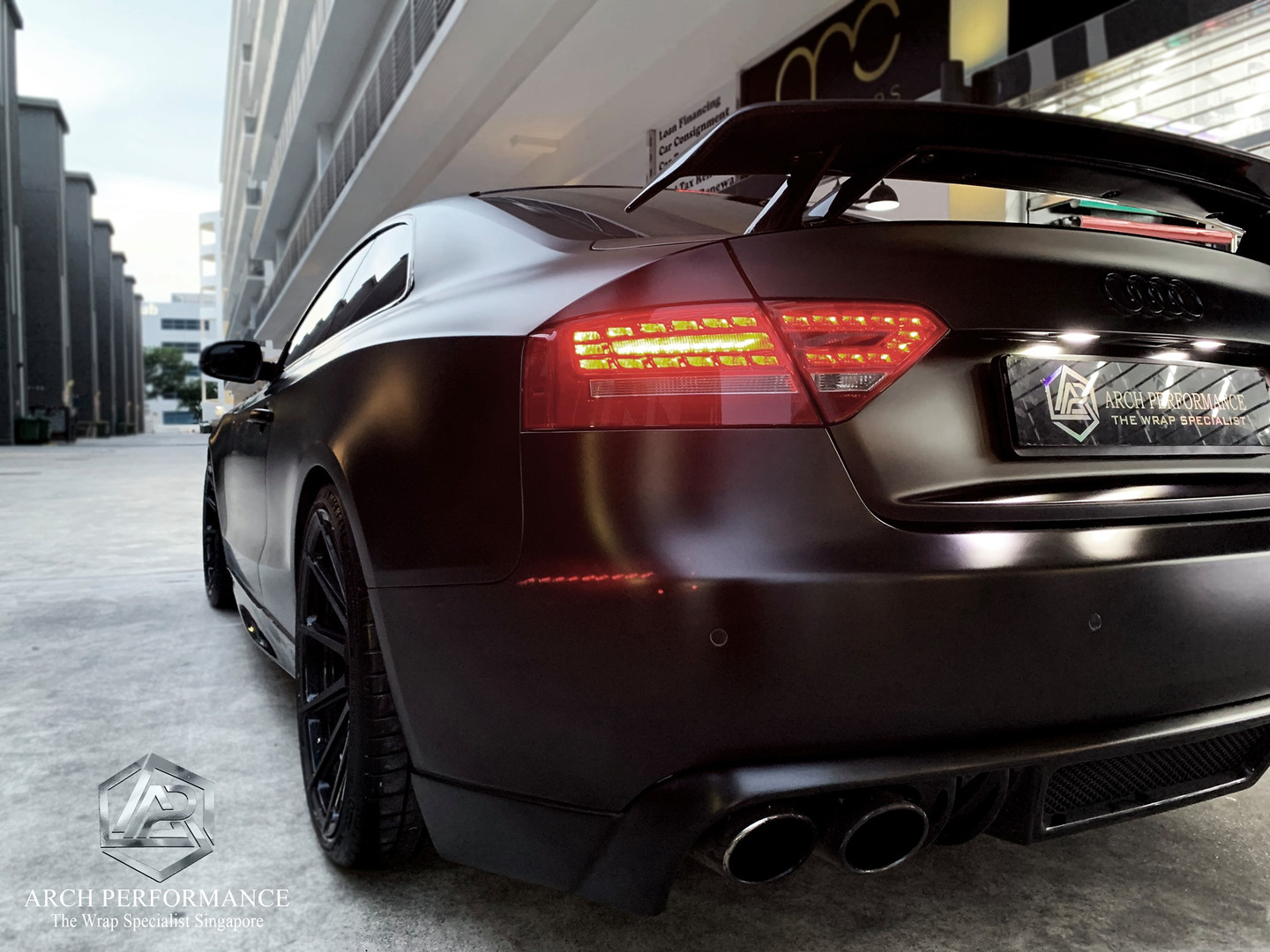 Audi A5 Satin Black Rear