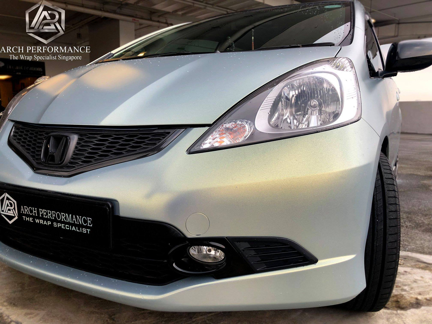 Honda Jazz Matte Diamond Ash Chrome Gold