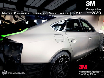 Audi Matte Charcoal Metallic Side
