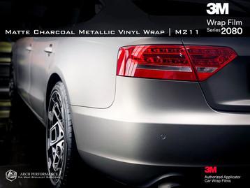 Audi Matte Charcoal Metallic Rear