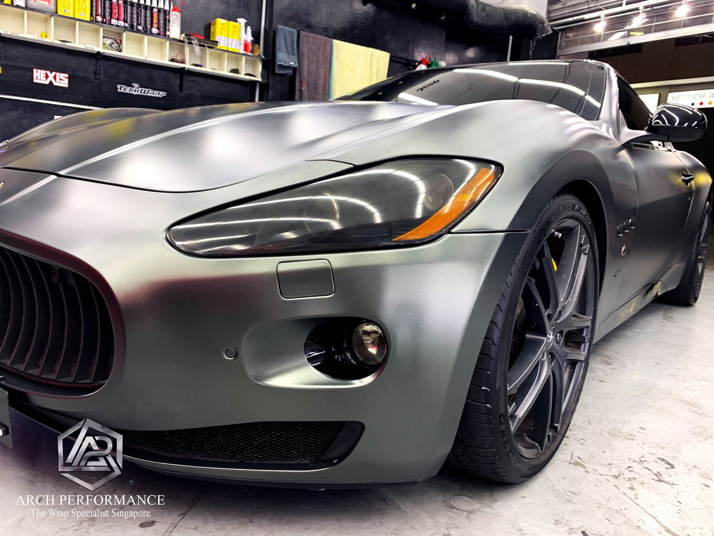 Maserati Matte Metallic Anthracite Grey