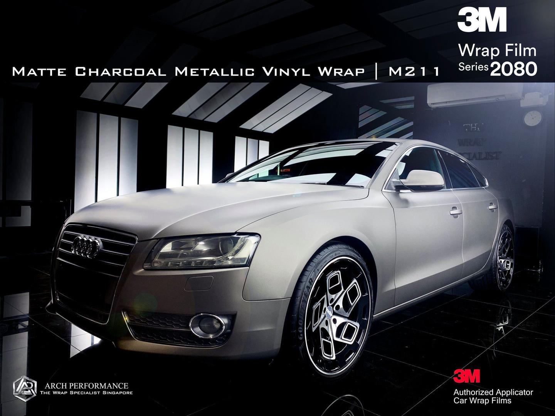 Audi Matte Charcoal Metallic Front