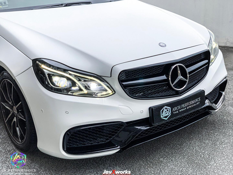 Merc E200 Satin White Wrap Front