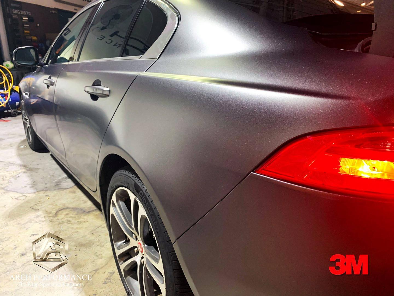 Jaguar XF Satin Dark Grey Side