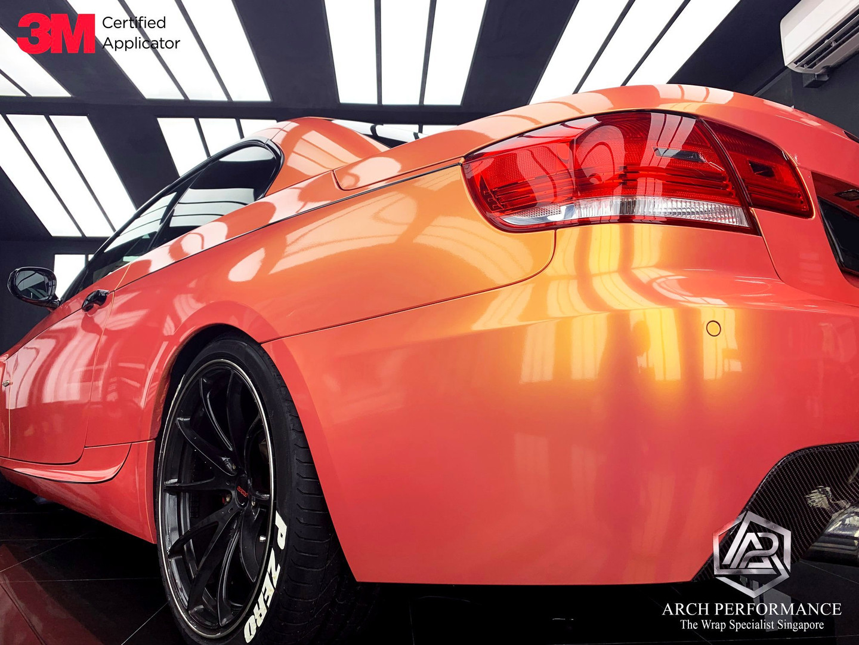 BMW 335I Magic Gold Pink Rear