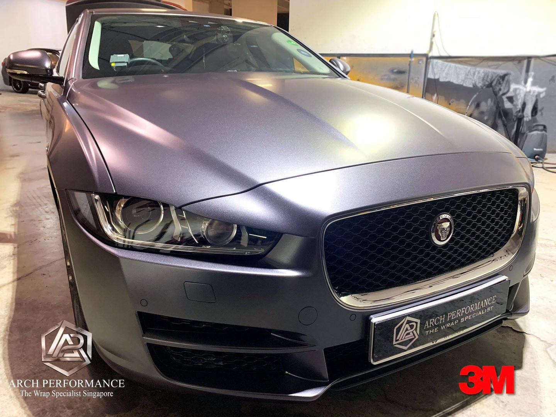Jaguar XF Satin Dark Grey Front