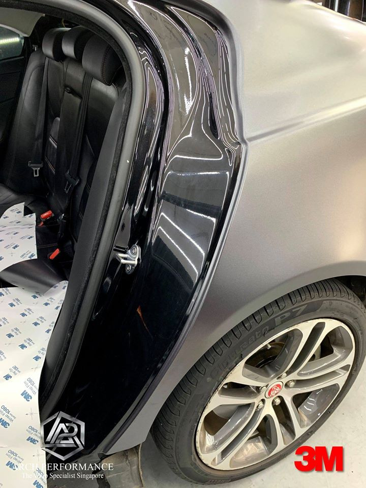 Jaguar XF Satin Dark Grey Door