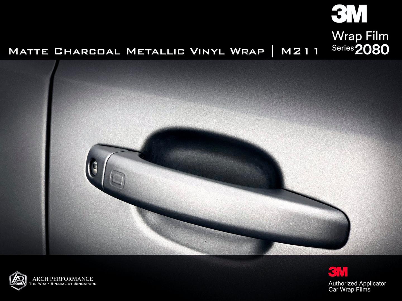 Audi Matte Charcoal Metallic Handle