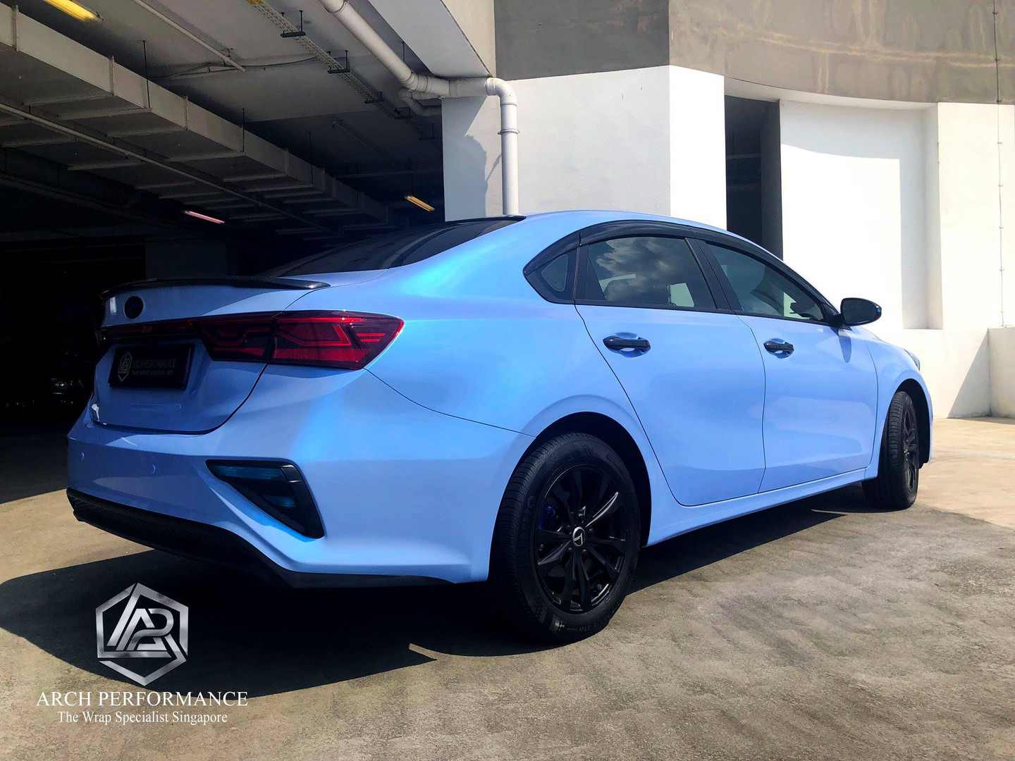 Twin Color Candy Cyanine Blue Rear