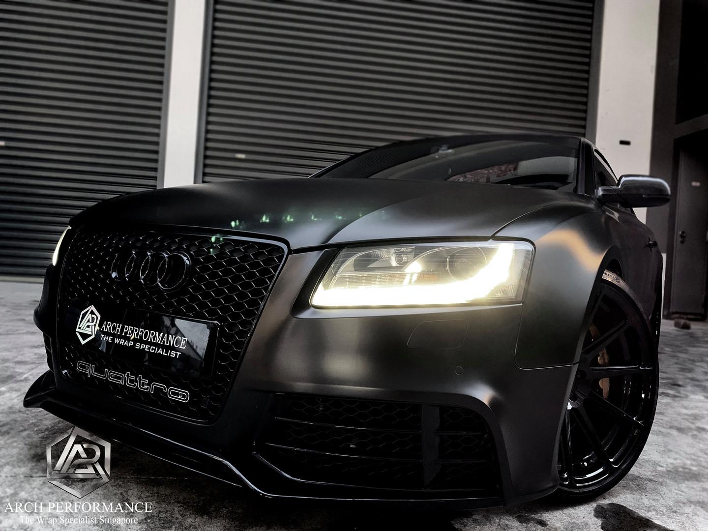 Audi A5 Satin Black Front