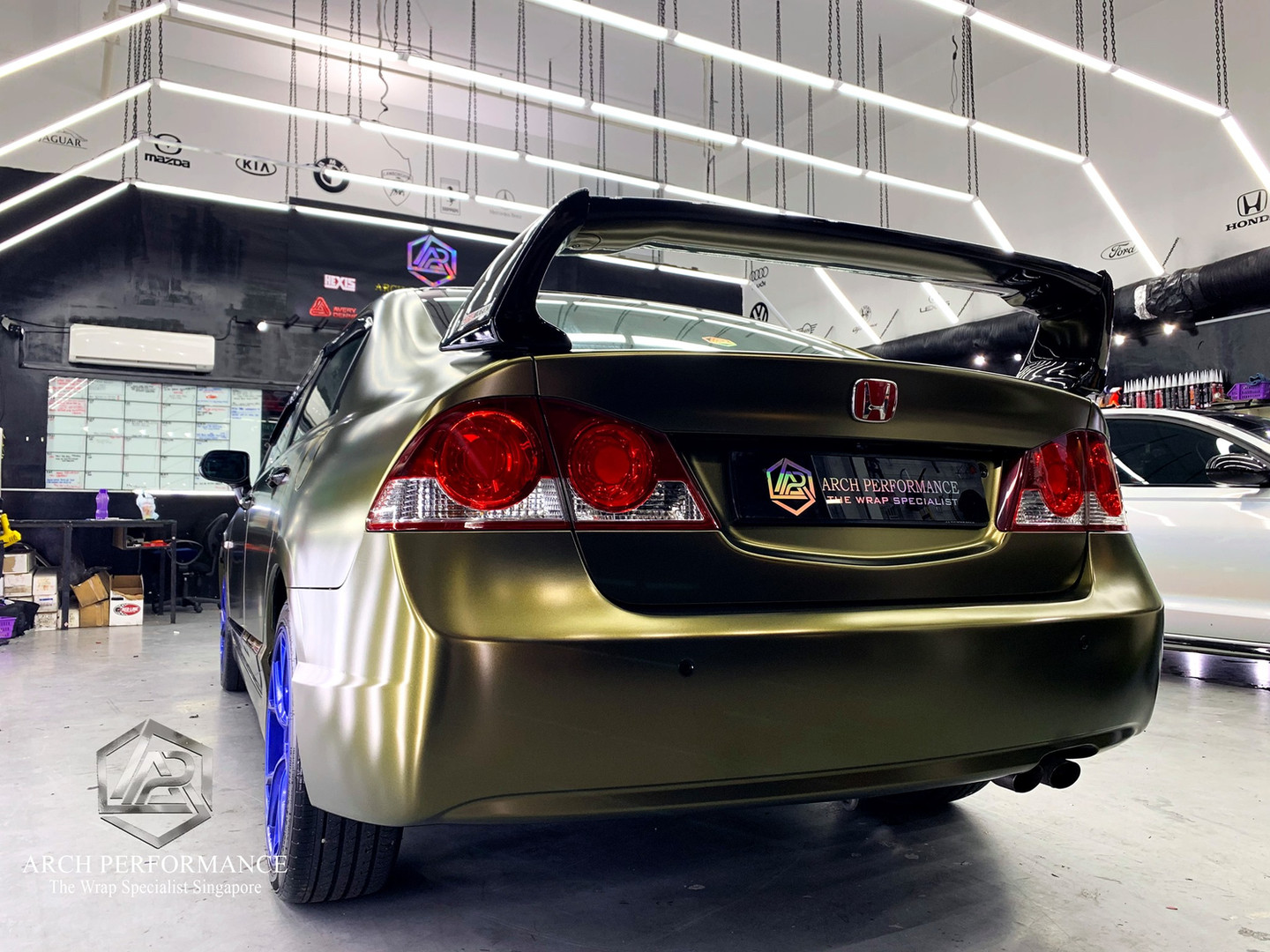 Civic FD Matte Metallic (Bond Gold) Rear