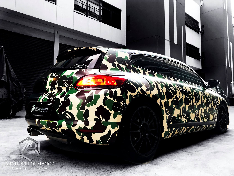 Volkswagen Scirocco Half Cut Bape Side