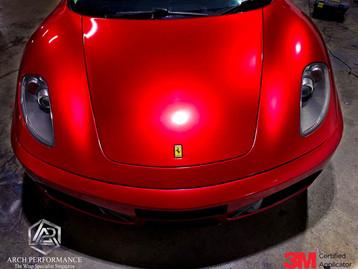 Ferrari F430 True Blood Red Bonnet