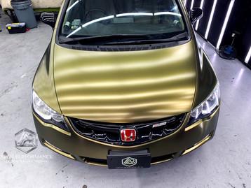 Civic FD Matte Metallic (Bond Gold) Bonnet
