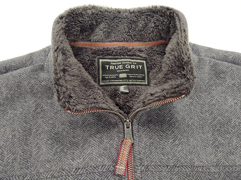Herringbone 1/4 Zip Fleece Sweater