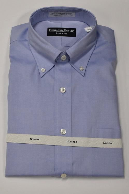 Benjamin Peters B.D. blue dress shirt