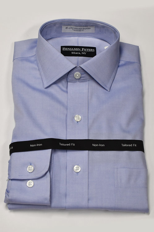 Benjamin Peters Tailored Dress Shirt Blue