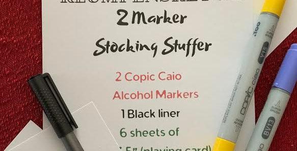 2 Marker Art Stocking Stuffer