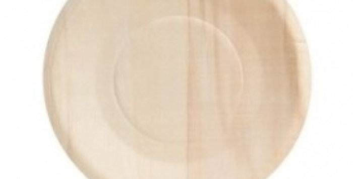"9"" Compostable Wooden Plate - 20 pack"