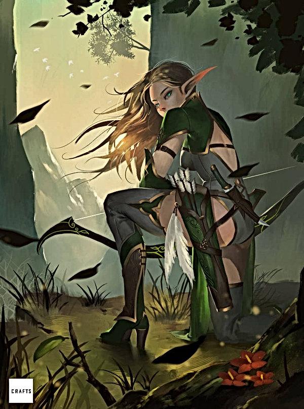 Elven Archer by Midfinger on DeviantArt.