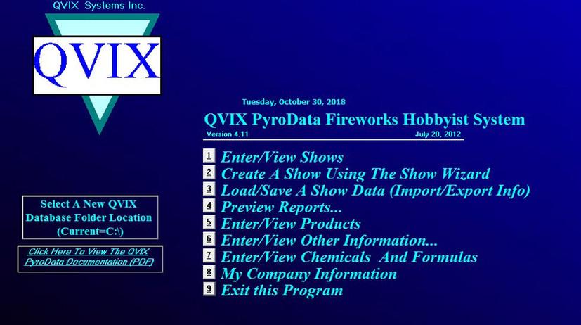 QVIX PyroData Fireworks Hobbyist System.