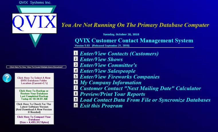QVIX Customer Contact Management System.
