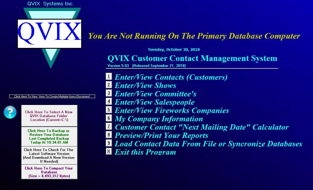 QVIX Customer Contact Management System.